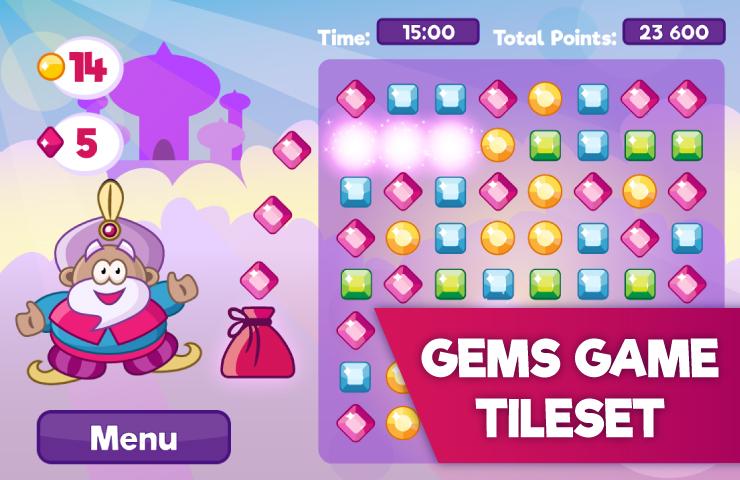 Sultans Gems – Free Tileset
