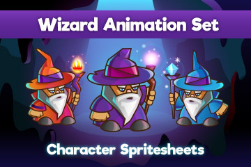 2D Game Wizard Character – Free Sprite