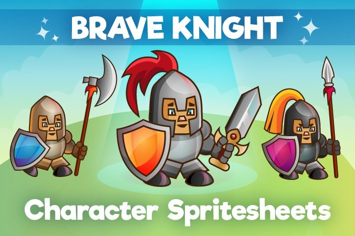 2D Game Knight Character – Free Sprite
