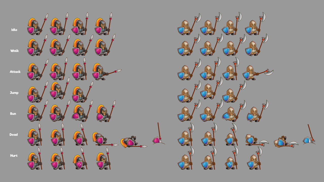 2d Game Knight Character Free Sprite