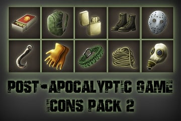 Post-apocalypse тАУ Free Icons Game Pack 2