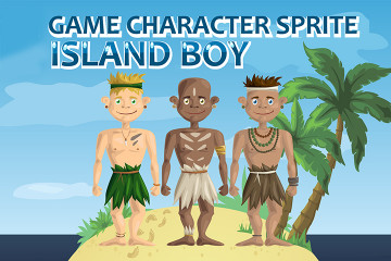 Island Boy Character – Free Sprite
