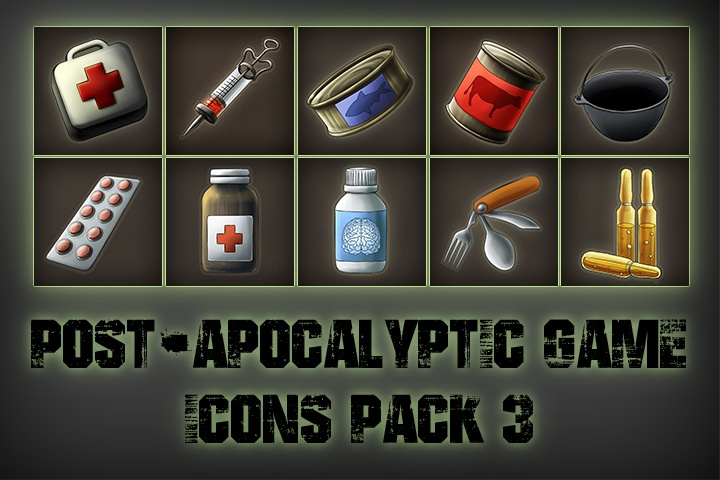 Post-apocalypse Icons Game Pack 3