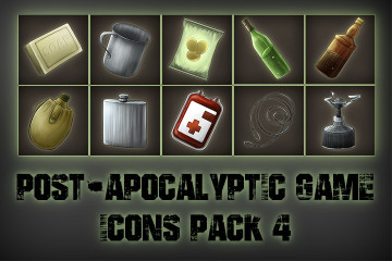 Post-apocalypse Icons Game Pack 4