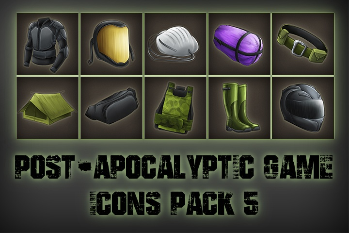 Post-apocalypse Icons Game Pack 5