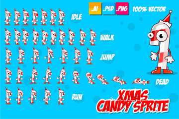 Xmas Candy Character – Free Sprites