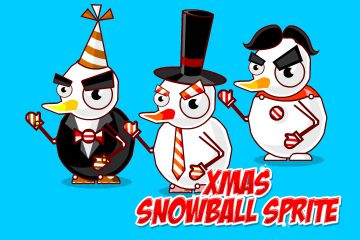 Xmas Snowball Character – Free Sprite