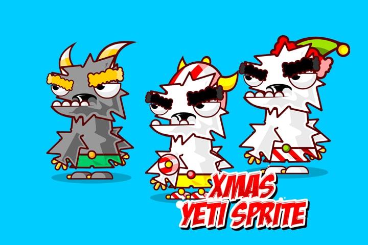 Xmas Yeti Character – Free Sprite
