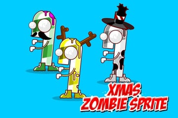 Xmas Zombi Character – Free Sprite