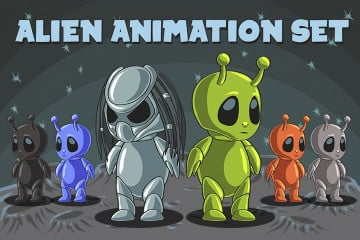 2D Game Alien Character – Free Sprite