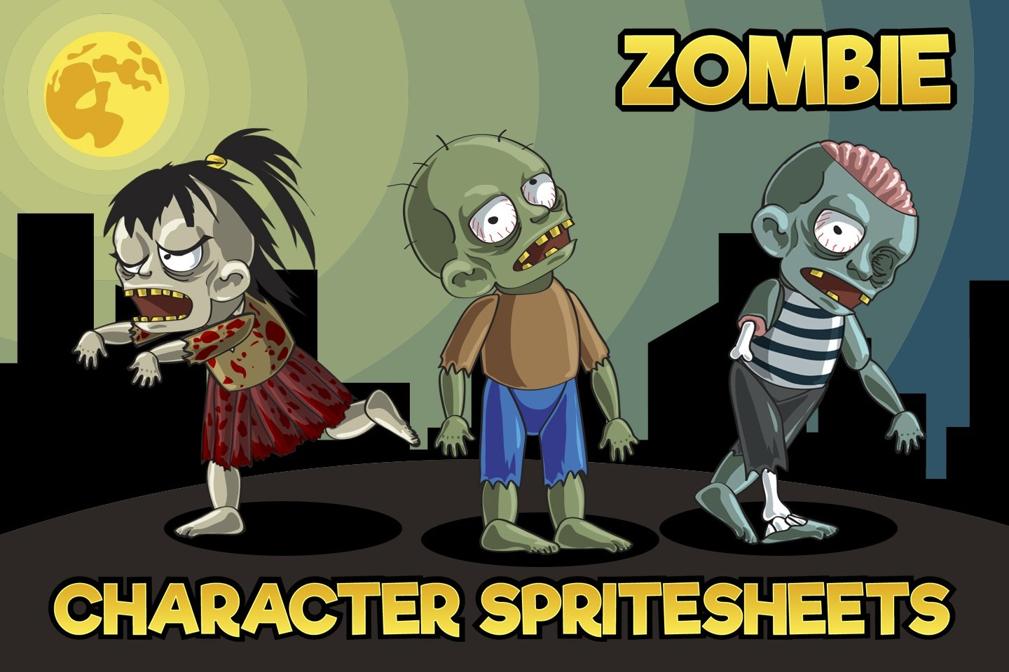 2D Game Zombie Character – Free Sprite Pack 1
