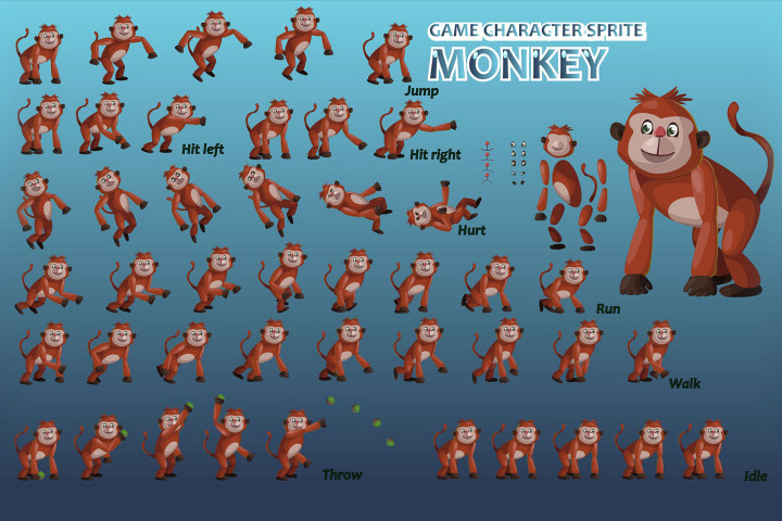 how to make 2d character sprites