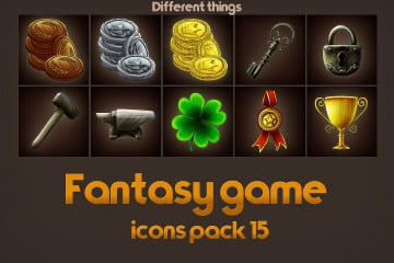 Free Game Icons of Fantasy Things тАУ Pack 15