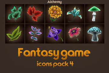 Game Icons of Fantasy Alchemy – Pack 4