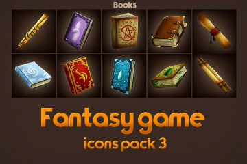 Game Icons of Fantasy Books – Pack 3