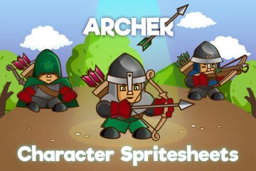 2D Game Archer Character Sprite