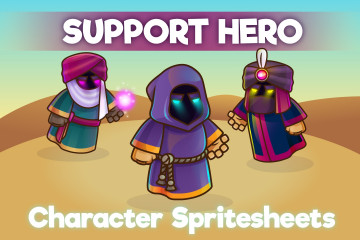 2D Game Support Hero Character Sprite