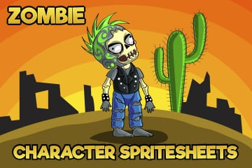 2D Game Zombie Character Free Sprite 4
