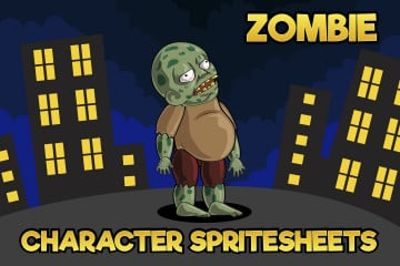2D Game Zombie Character Sprite 1