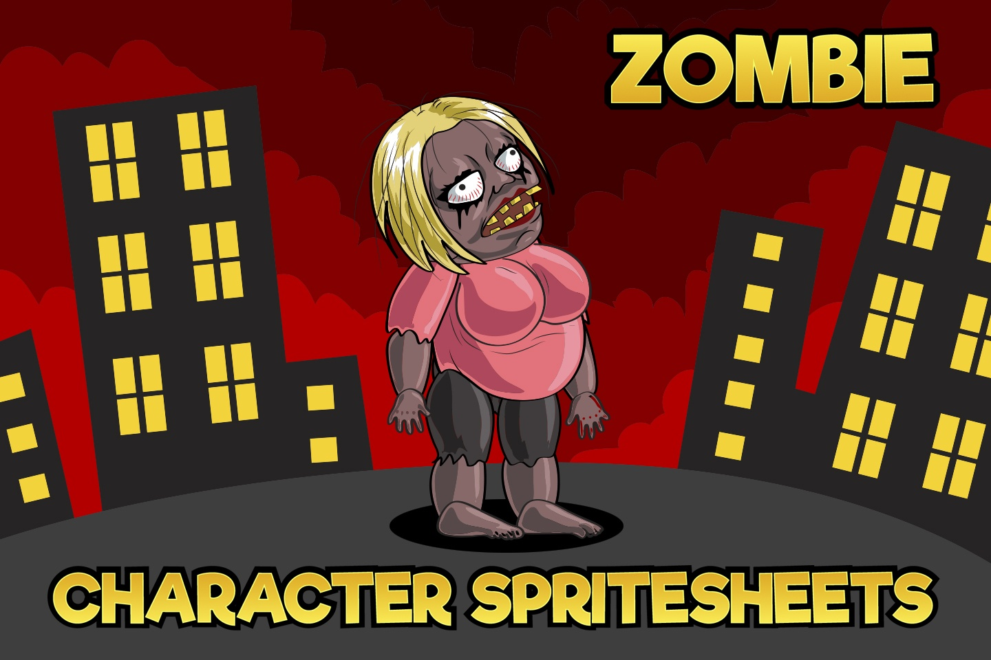 2D Game Zombie Character Sprite 2