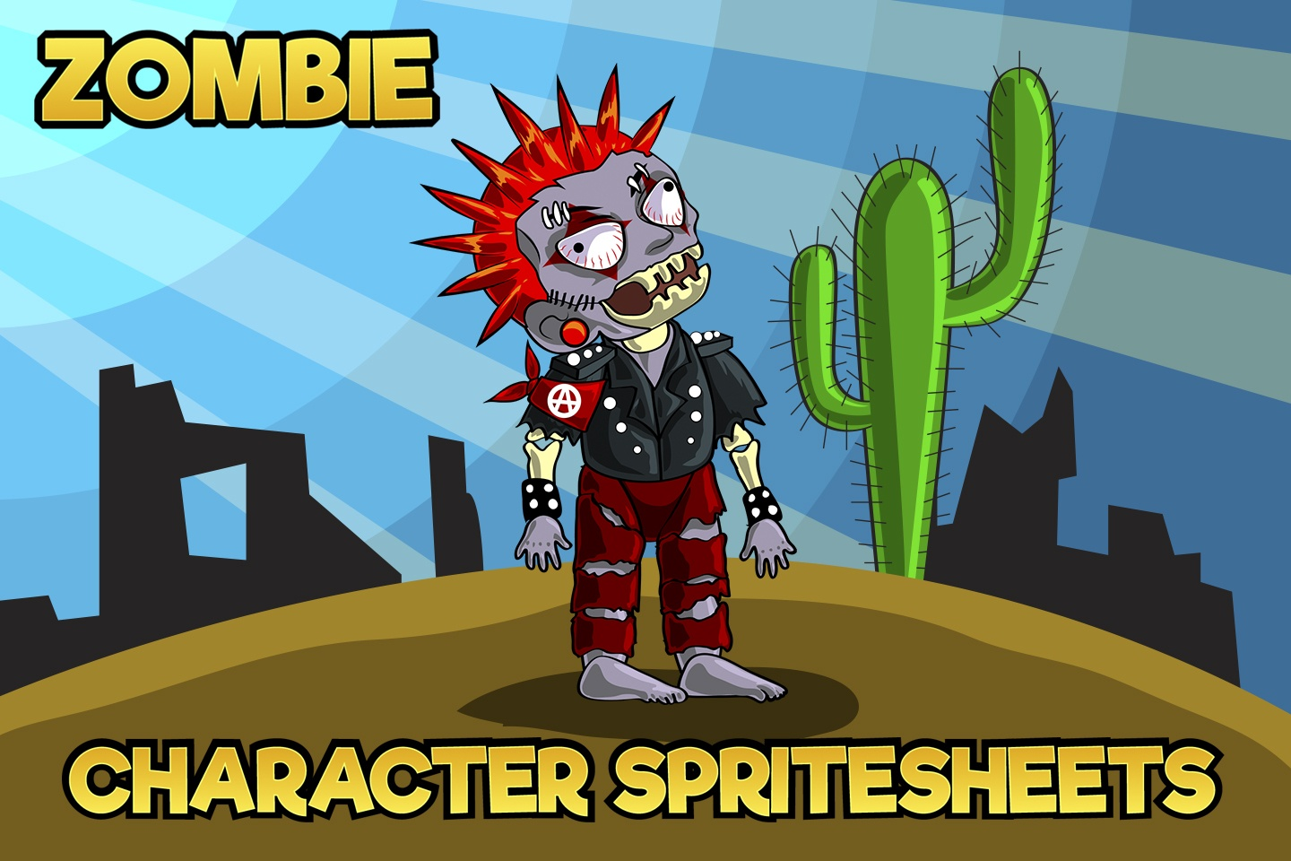 2D Game Zombie Character Sprite 5