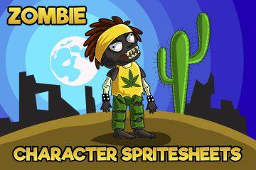 2D Game Zombie Character Sprite 6