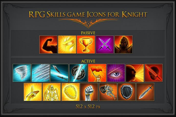 free-rpg-knight-skill-icons