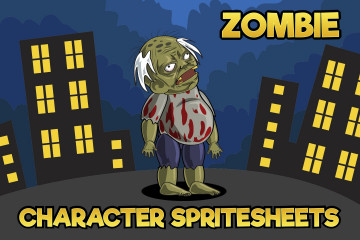 2D Game Zombie Character Sprite 3