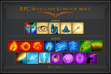 RPG Skill Icons for Mage