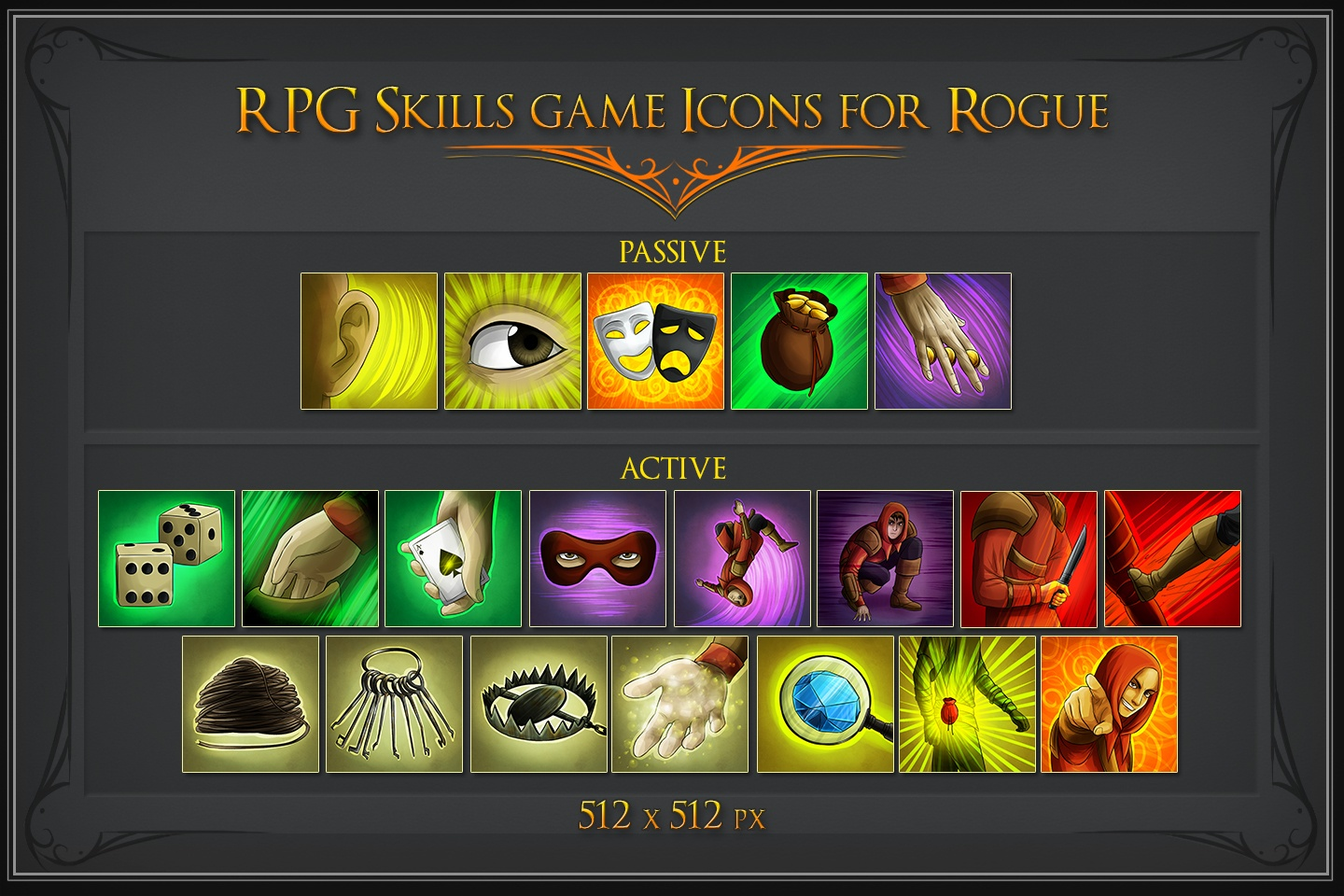 RPG Skill Icons for Rogue