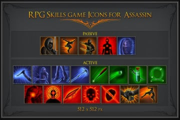 RPG Skill Icons for Assassin
