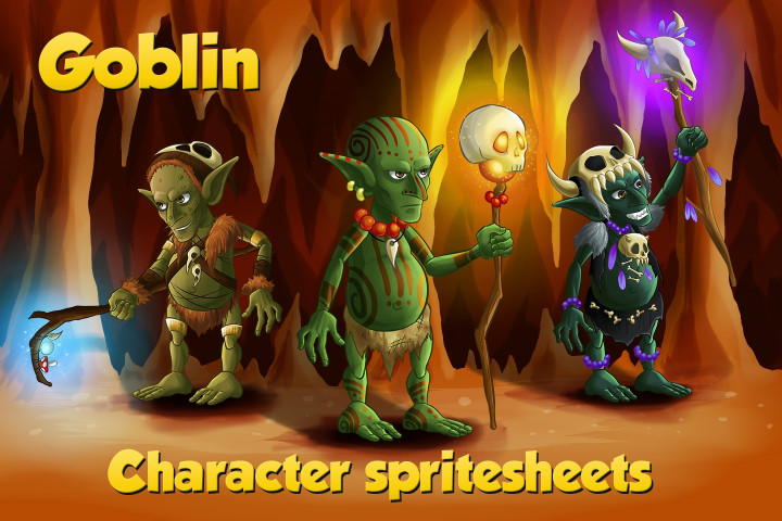2D Game Goblin Character Sprite