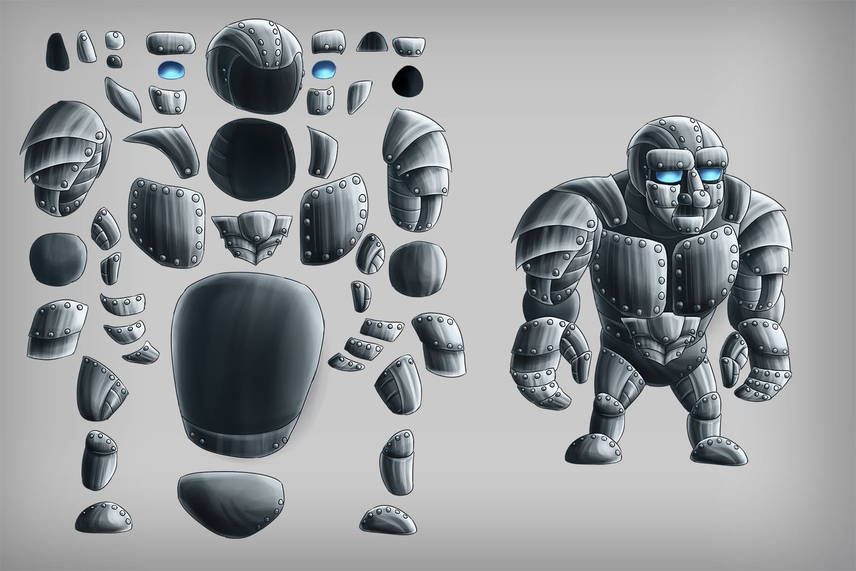 2d Game Golem Character Sprites Craftpix Net