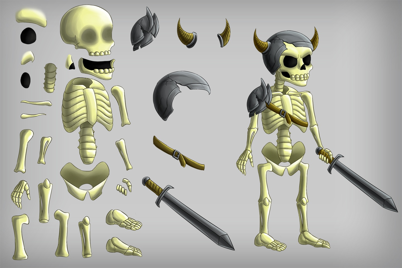 2D Game Skeleton Character Sprites