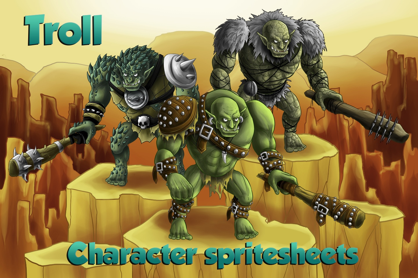 2D Game Troll Free Character Sprites