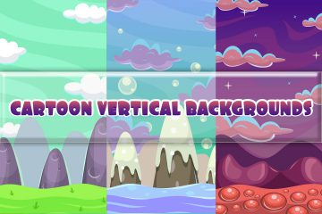 Free Cartoon Vertical Game Backgrounds