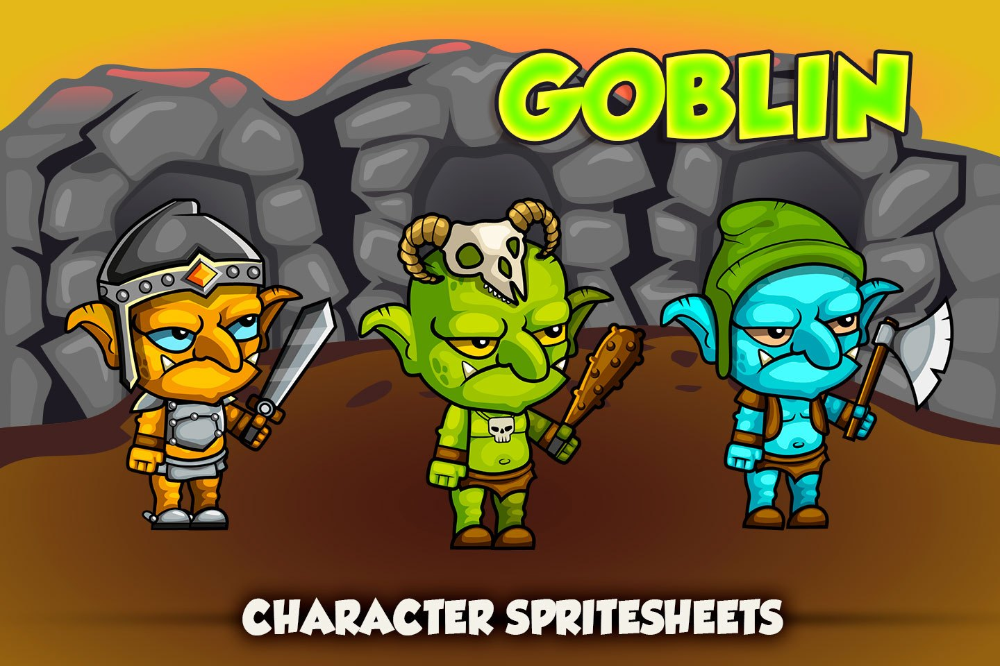 2D Fantasy Goblins Character Sprite