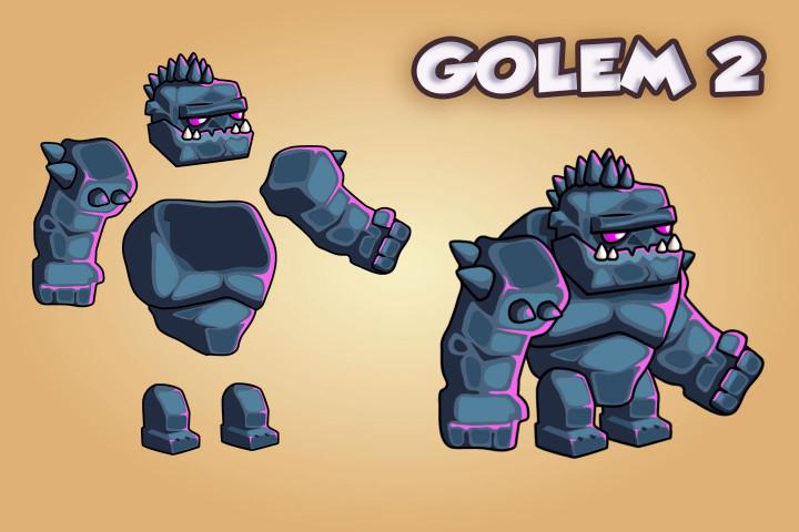 2D-Fantasy-Golems-Sprite-Sheets