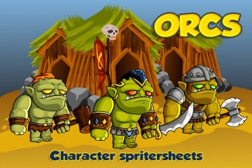 2D Fantasy Orcs Free Character Sprite
