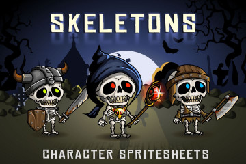 2D Fantasy Skeletons Sprite Sheets