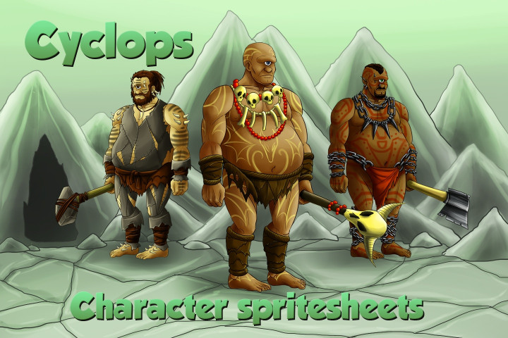 2D-Game-Cyclops-Character-Sprites