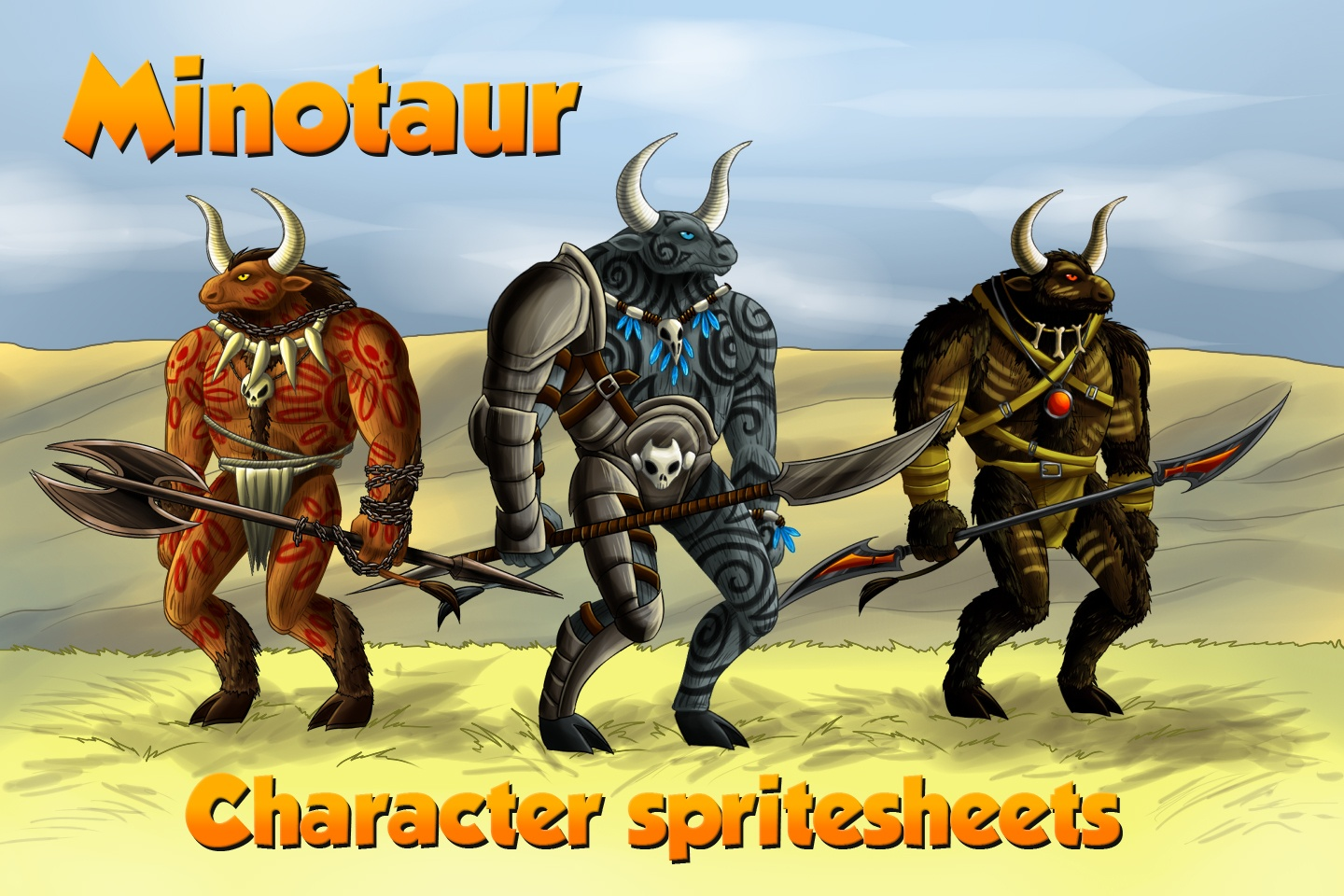 2D Game Minotaur Character Sprites