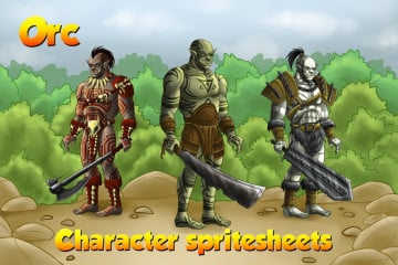 2D Game Orc Character Sprites