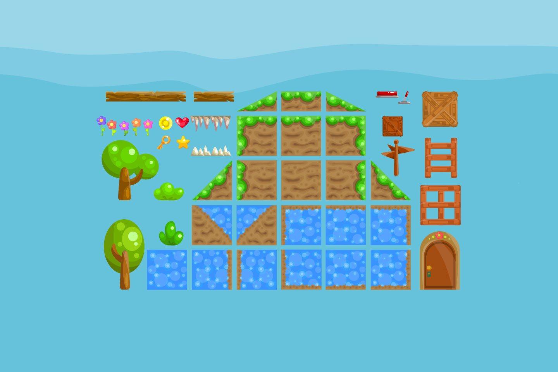 Platformer Summer Game TileSet