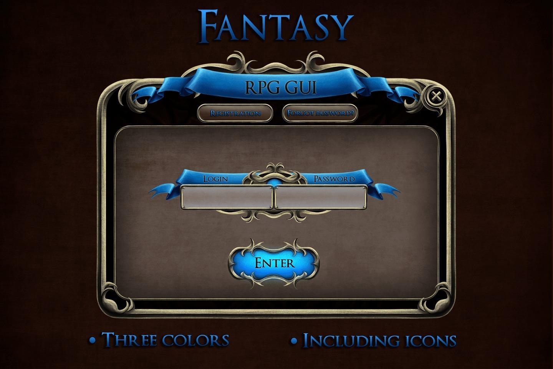 Fantasy RPG GUI