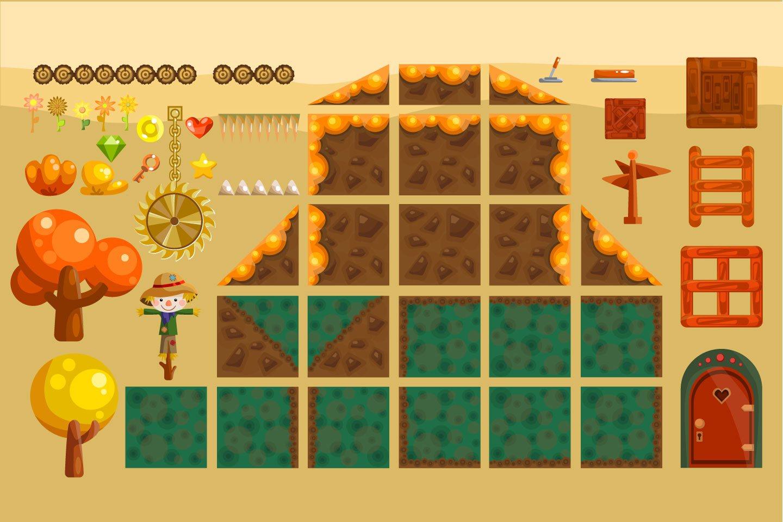A Game For Free : Platformer autumn game free tileset craftpix