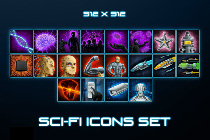 Sci-Fi-Skill-Icons