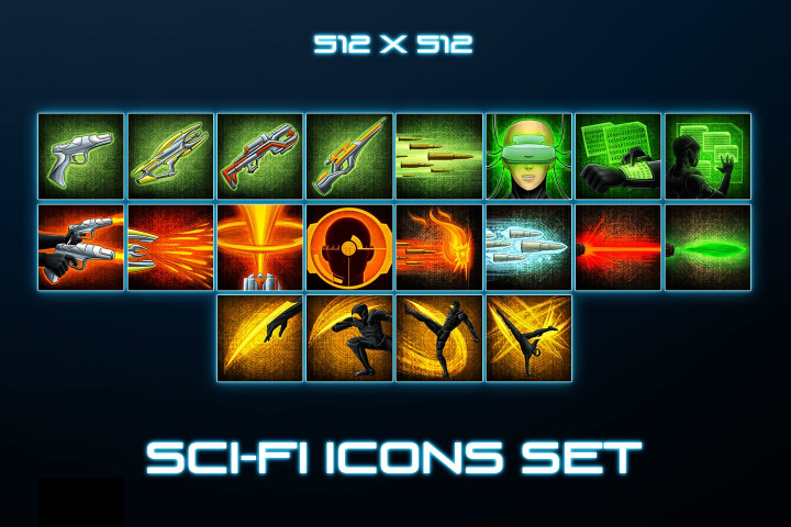 Sci-Fi Skill Icons