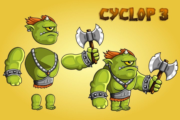 2D-Fantasy-Cyclops-Sprite Sheets