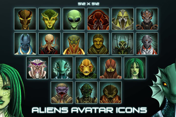 Aliens Avatar Game Icons